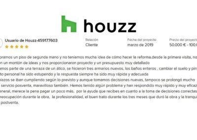 Reforma vivienda en Avda de la Peseta Madrid Nala Studio valoración cliente