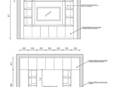 Diseño de muebles salón y dormitorio Nala Studio